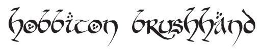 hobbiton brushhand font