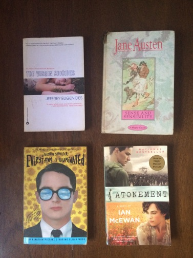 Of course, what's a reading nook without reading material? These are just some of my favorite books, which are also some of my favorite films.