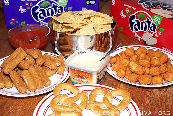 Raid the supermarket for fried finger foods