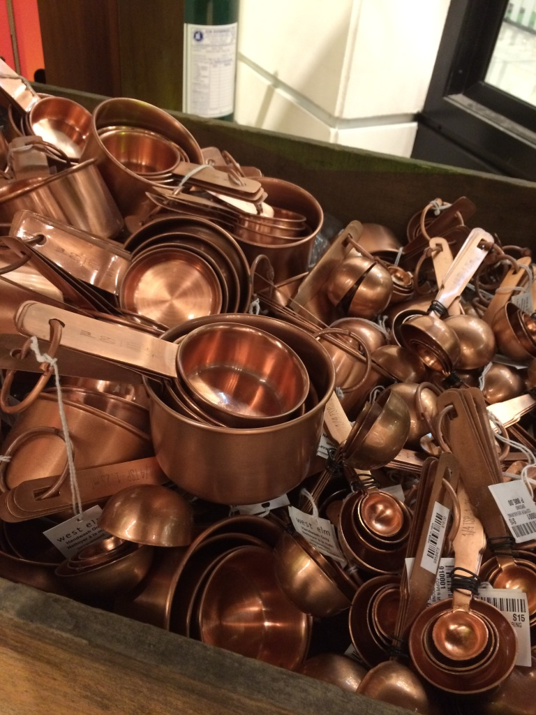 Copper measuring cups and spoons!