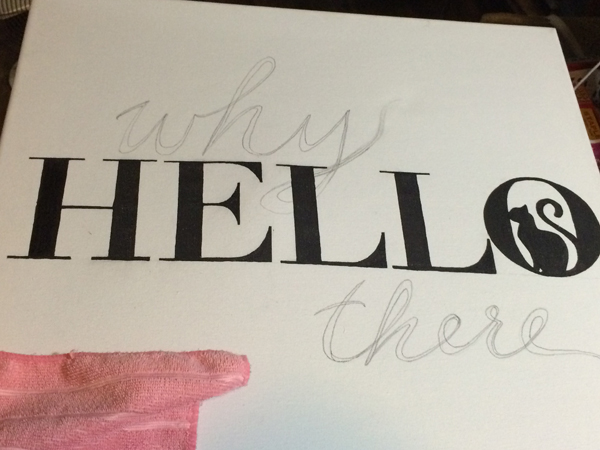 While canvas is easy to write on, pencil marks are not easy to erase.
