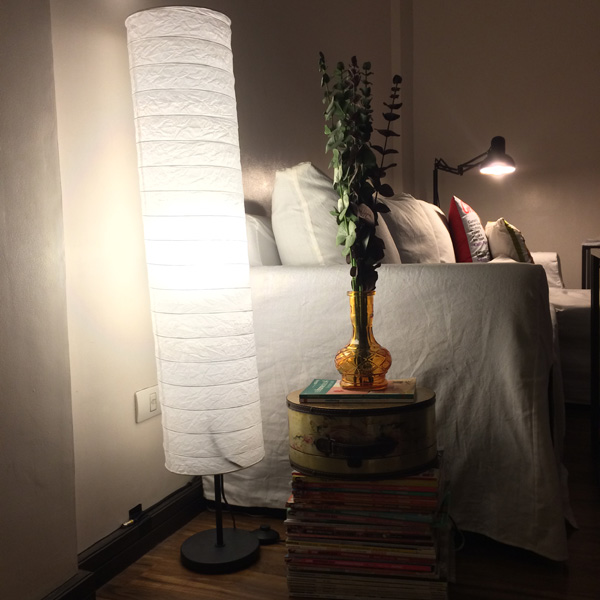 gal at home house tour Ikea Holmo lamp