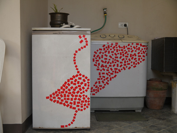 DIY: How to make tape art over old appliances