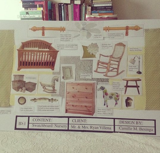 One of my favorite projects: Working on a moodboard for a hypothetical client's (myself!) nursery