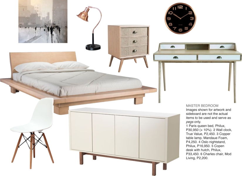 Bedroom contemporary scandinavian moodboard
