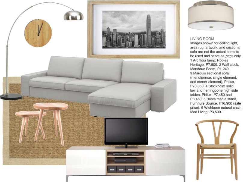 Living Room scandinavian contemporary moodboard