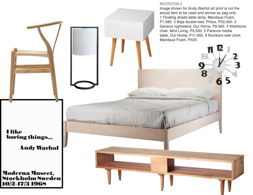 Master Bedroom Contemporary Scandinavian moodboard