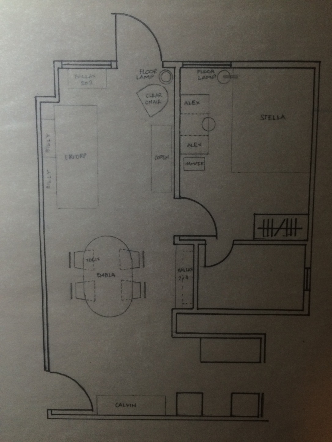 draft plan furniture layout