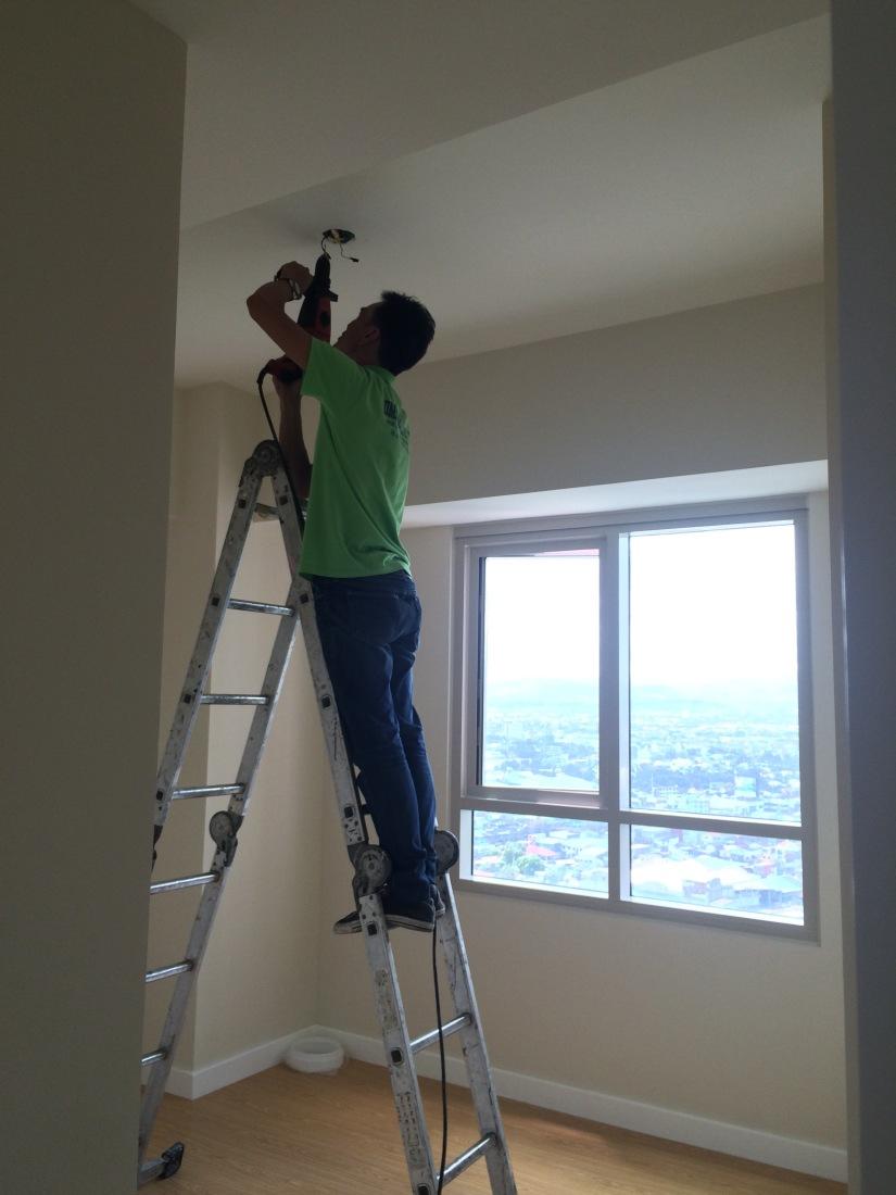 light fixtures, renovation, condo, interior design