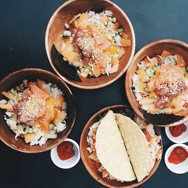 food, maginhawa, eats, hawaii, poke bowl, malasadas