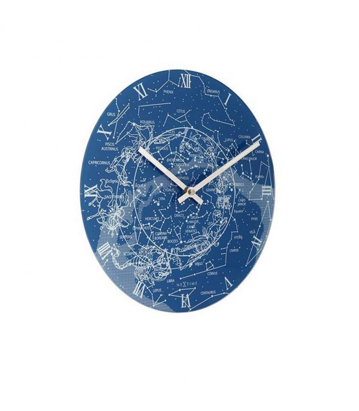 milky-way-round-wall-clock-blue