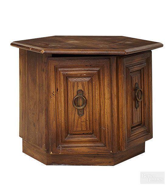 FurnitureMakeovers-HexagonalTableBEFORE