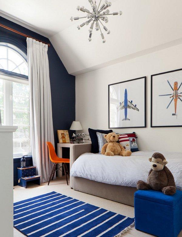 navy blue kid's bedroom